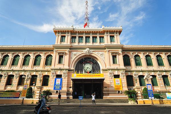 Mặt tiền Bưu điện trung tâm thành phố