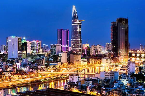 Sài Gòn lộng lẫy về đêm