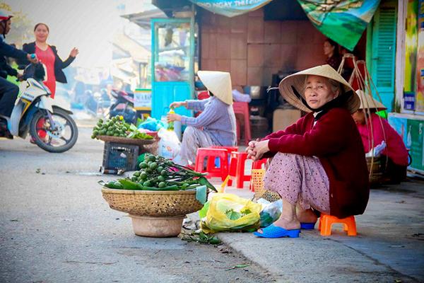 Vẻ đẹp bình dị của chợ xuân Gia Lạc