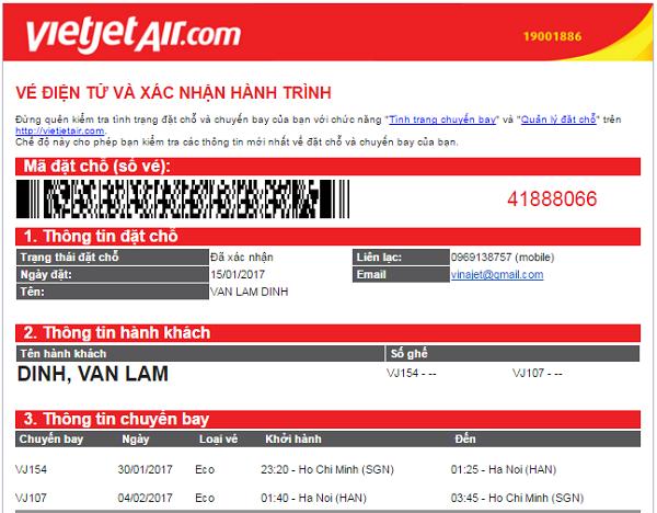 đặt vé máy bay giá rẻ Vietjet Air
